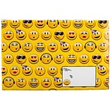 JAM Paper® Holiday Bubble Mailers, Small, 6 x 10, Festive Smiley Face Emojis, 6/pack (SS40S)