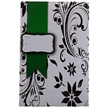 JAM Paper® Holiday Bubble Mailers, Large, 10.5 x 16, Floral with Green Ribbon, 6/pack (SS25LDM)