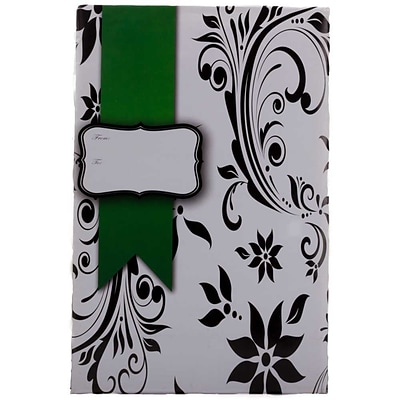 JAM Paper® Holiday Bubble Mailers, Medium, 8.5 x 12.25, Floral with Green Ribbon, 6/pack (SS25MDM)