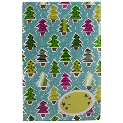 JAM Paper® Holiday Bubble Mailers, Medium, 8.5 x 12.25, Colorful Christmas Tree Pattern, 6/pack (SS39MDM)