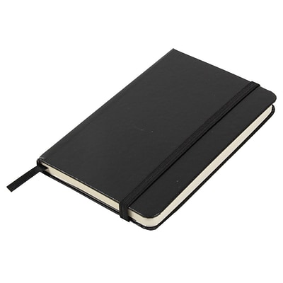 JAM Paper® Hardcover Lined Notebook With Elastic Closure, Small, 3 3/4 x 5 5/8 Journal, Black, Sold Individually (340526602)