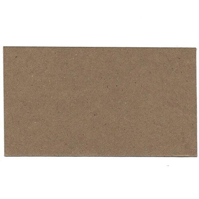 JAM Paper® Blank Note Cards, 3drug size, 2 x 3.5, Brown Kraft, 500/box (217512693B)