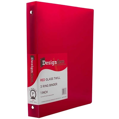 JAM Paper® Plastic 3 Ring Binder, 1 Inch, Red, Sold Individually (751T1RE)
