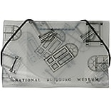 JAM Paper® Plastic Business Card Case, National Building Museum Design Clear/Black, 100/pack (036666