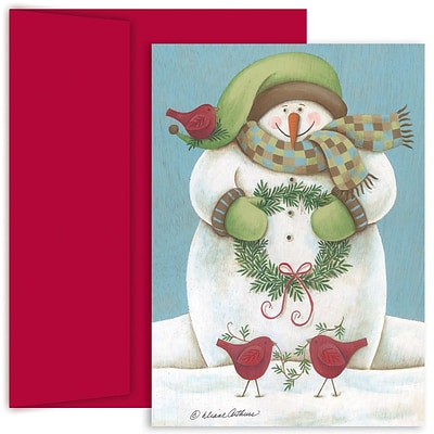 JAM Paper® Christmas Holiday Cards Set, Wintery Friends, 18/pack (526816800)