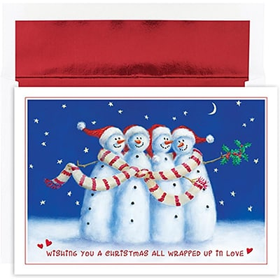 JAM Paper® Christmas Holiday Cards Set, All Wrapped Up, 18/pack (526853100)