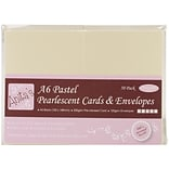 Docrafts® Anitas Pearlescent Cards And Envelopes, A6, Multicolor