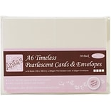 Docrafts® Anitas Pearlescent Cards And Envelopes, A6, Timeless Ivory/Ecru