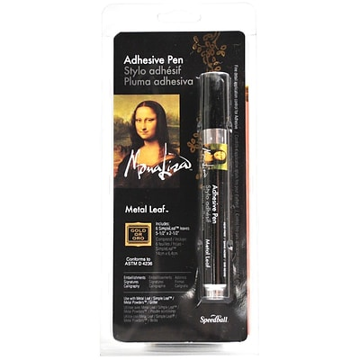 Speedball Art Products® Mona Lisa™ Adhesive Pen With Simple Leaf, 5 1/2 x 2 1/4, Gold