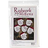 Rachels Of Greenfield Redwork Mittens Ornament Kit