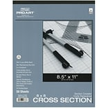 Pro Art Cross Section Pad, 8 1/2 x 11 - 8 x 8 Grid