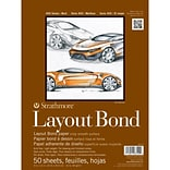 Strathmore® 16 lbs. Layout Bond Paper Pad, 9 x 12, Bright white