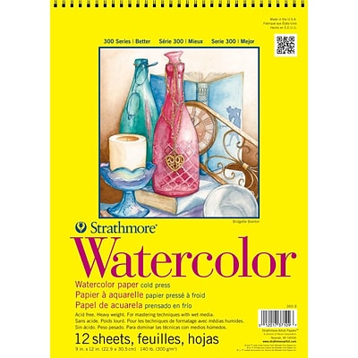 Strathmore® 140 lbs. Cold Pressed Watercolor Wire Paper Pad, 9 x 12