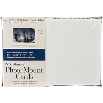 Strathmore® Decorative Emboss Photo Mount Cards & Envelopes, 5\