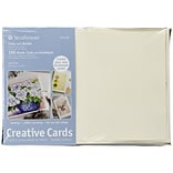 Strathmore® Cards And Envelopes, 5 x 7, Ivory/Deckle