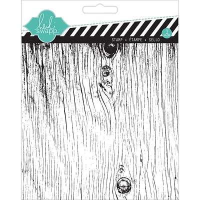 American Crafts™ Heidi Swapp Clear Stamp, 5.5 x 5.5, Woodgrain