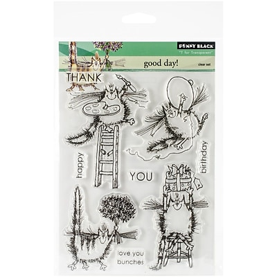 Penny Black® Clear Stamp, 5 x 7.5, Good Day