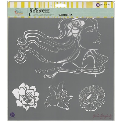 Prima Marketing Bloom Stencil, 12 x 12, Gardenia