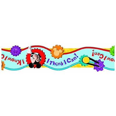 Eureka® I Think I Can Extra Wide Cut Deco Trim, Mickey Mouse Clubhouse, PreK - 12th Grade (EU-845209)