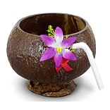 S&S® Coconut Cups With Flower, 12/Pack