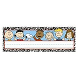 Eureka® Composition Tented Name Plate, Peanuts, PreK - 12th Grade (EU-843505)