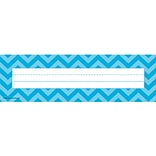 Teacher Created Resources Flat Name Plate, Aqua Chevron, All Grades (TCR5527)