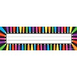Teacher Created Resources Flat Name Plate, Colored Pencils, PreK - 12th Grade (TCR5512)