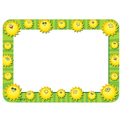 teacher created resources name tags label happy suns prek 12th grade tcr5456. Black Bedroom Furniture Sets. Home Design Ideas