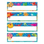 Trend Enterprises® Desk Toppers® Prek - 3rd Name Plate Variety Pack, Sea Buddies, 32/Pack