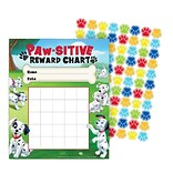 Eureka® 101 Dalmatians® Mini Reward Chart, Paw-sitive, 5 x 6 (EU-837037)