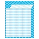 Teacher Created Resources Large Incentive Chart, Aqua Chevron, 17 x 22 (TCR7582)
