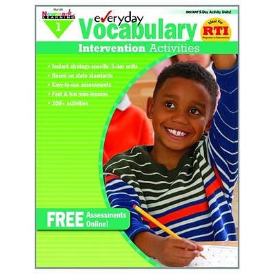 Newmark Learning Everyday Vocabulary Intervention Activities, Grade 1