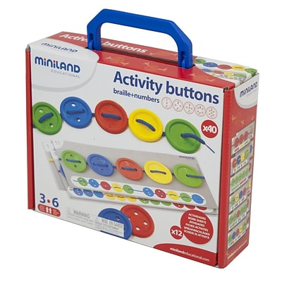 Miniland Educational Activity Buttons, 40/Pack