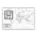 Kappa Map Group World Outline Map Study Pad