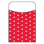 Trend Enterprises® Polka Dots Red Terrific Pocket; 40/Pack
