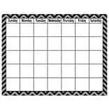 Teacher Created Resources 17 x 22 Calendar Chart, Black Chevron