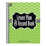 Teacher Created Resources Lesson Plan & Record Book; Lime Chevrons and Dots