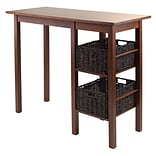 Winsome 94307 Wooden Egan Breakfast Table with 2 Baskets