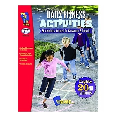 On The Mark Press Daily Fitness Activities Book, Grade 4-6 (OTM410)