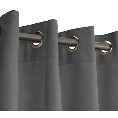 RoomDividersNow 8 x 10 Fabric Room Divider Curtain, Gray
