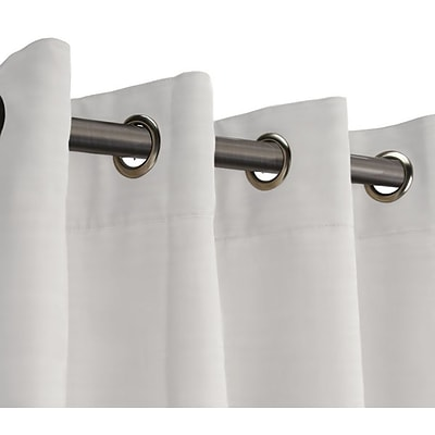 RoomDividersNow 9 x 15 Fabric Room Divider Curtain, White