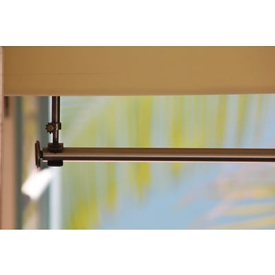 RoomDividersNow 54 - 100 Hanging Curtain Rod; Brushed Silver