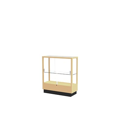 Waddell 40 x 36 Wood & Glass Display Cases Honey Maple