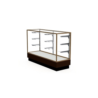 Waddell 60 x 40 Metal & Glass Display Case, Gold