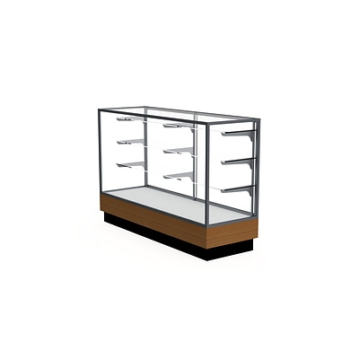 Waddell 60 x 40 Metal & Glass Display Case, Satin