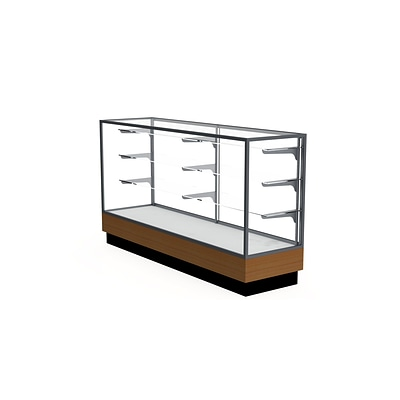 Waddell 40 x 72 Metal & Glass Display Case, Satin