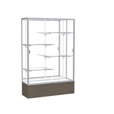 Waddell 48 x 72 Aluminum Display Case, Walnut Vinyl