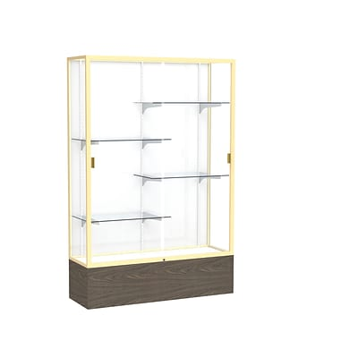 Waddell 72 x 48 Metal & Glass Display Case, Walnut