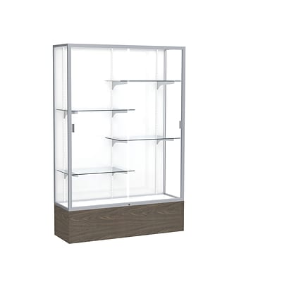Waddell 72 x 48 Metal Display Case, Walnut