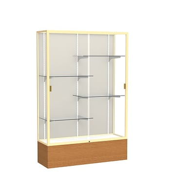 Waddell 72 x 48 Aluminum Display Case, Carmel Oak